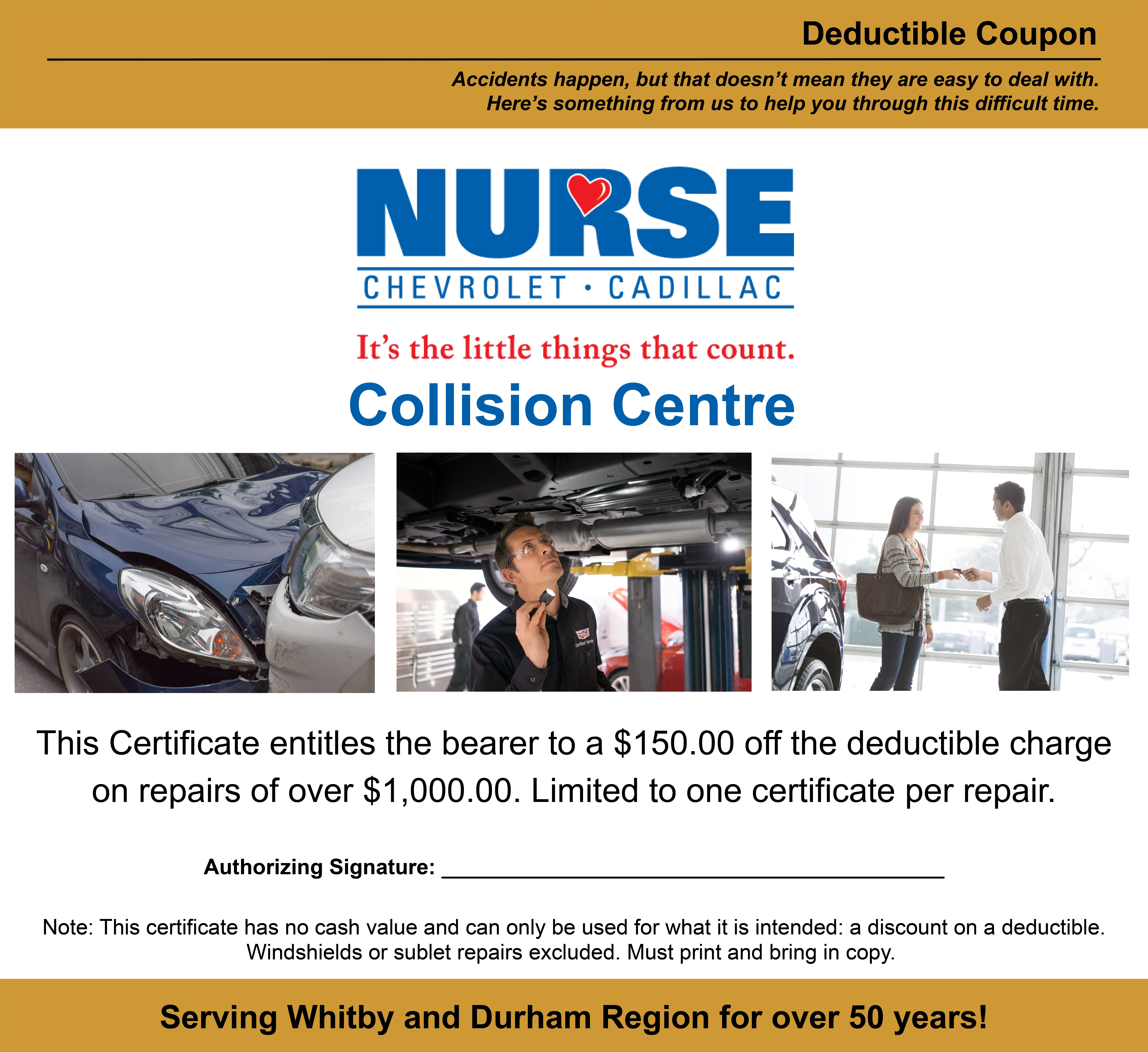 Collision Centre Coupon