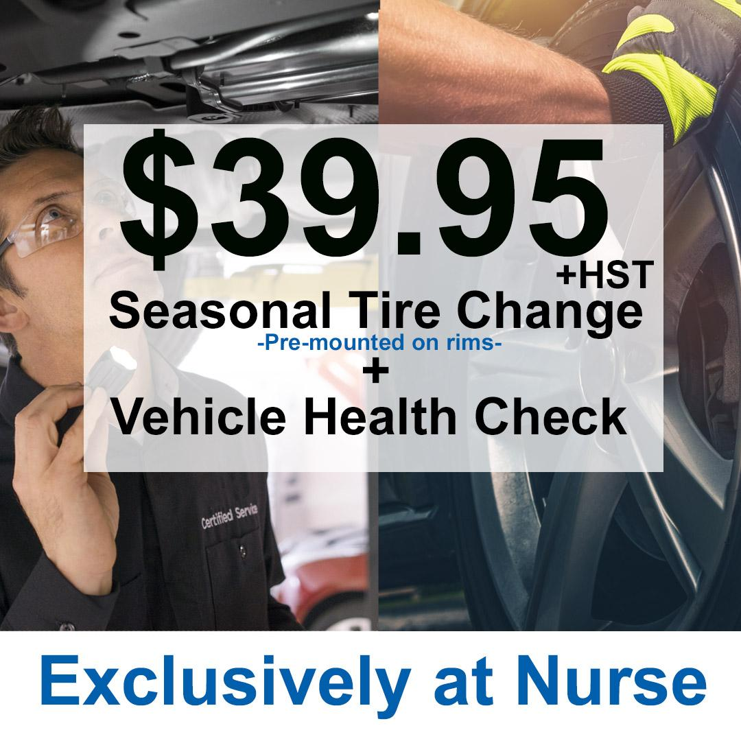 SEASONAL TIRE CHANGE